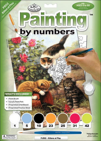 Paint By Number Junior Small Kittens at Play ROYPJS52