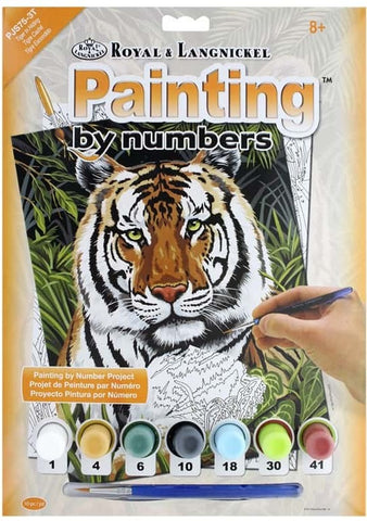 Paint By Number Junior Small Tiger in Hiding