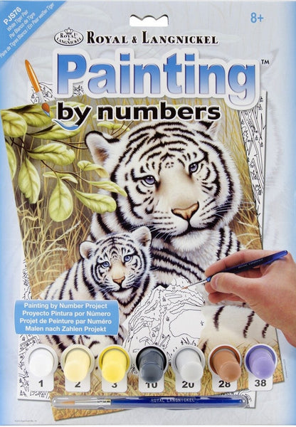 Paint By Number Junior Small White Tiger Pair