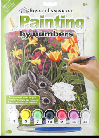 Paint By Number Junior Small Spring Bunnies