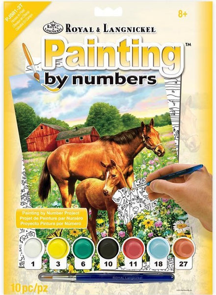 Paint By Number Junior Small Horse in Field