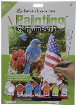 Paint By Number Junior Small Patriotic Bluebird
