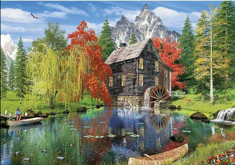 Fishing by the Mill 1500pc Puzzle