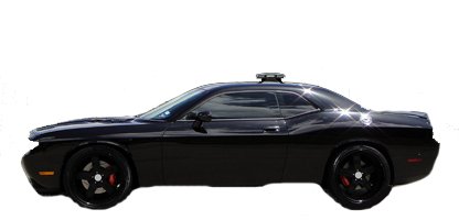 1/18 1970 Dodge Challenger SRT8 Blackout Chase Car