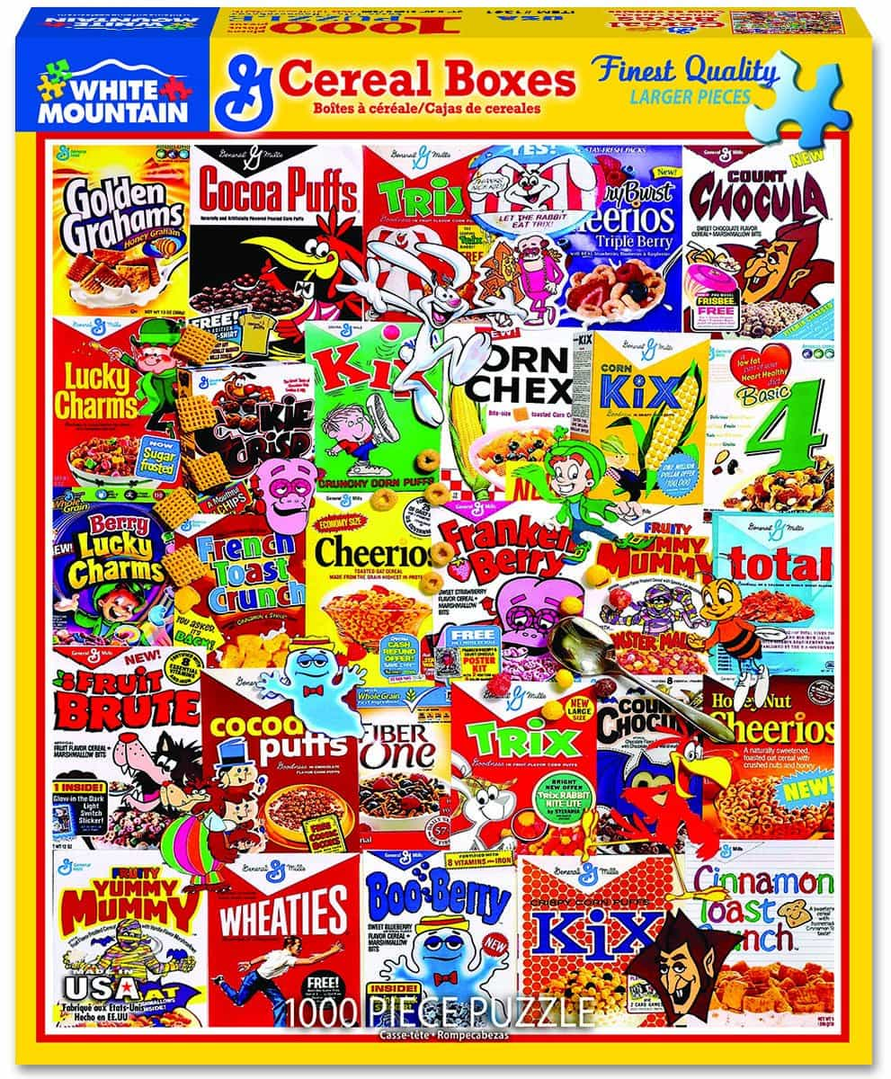Cereal Boxes 1000pc Puzzle
