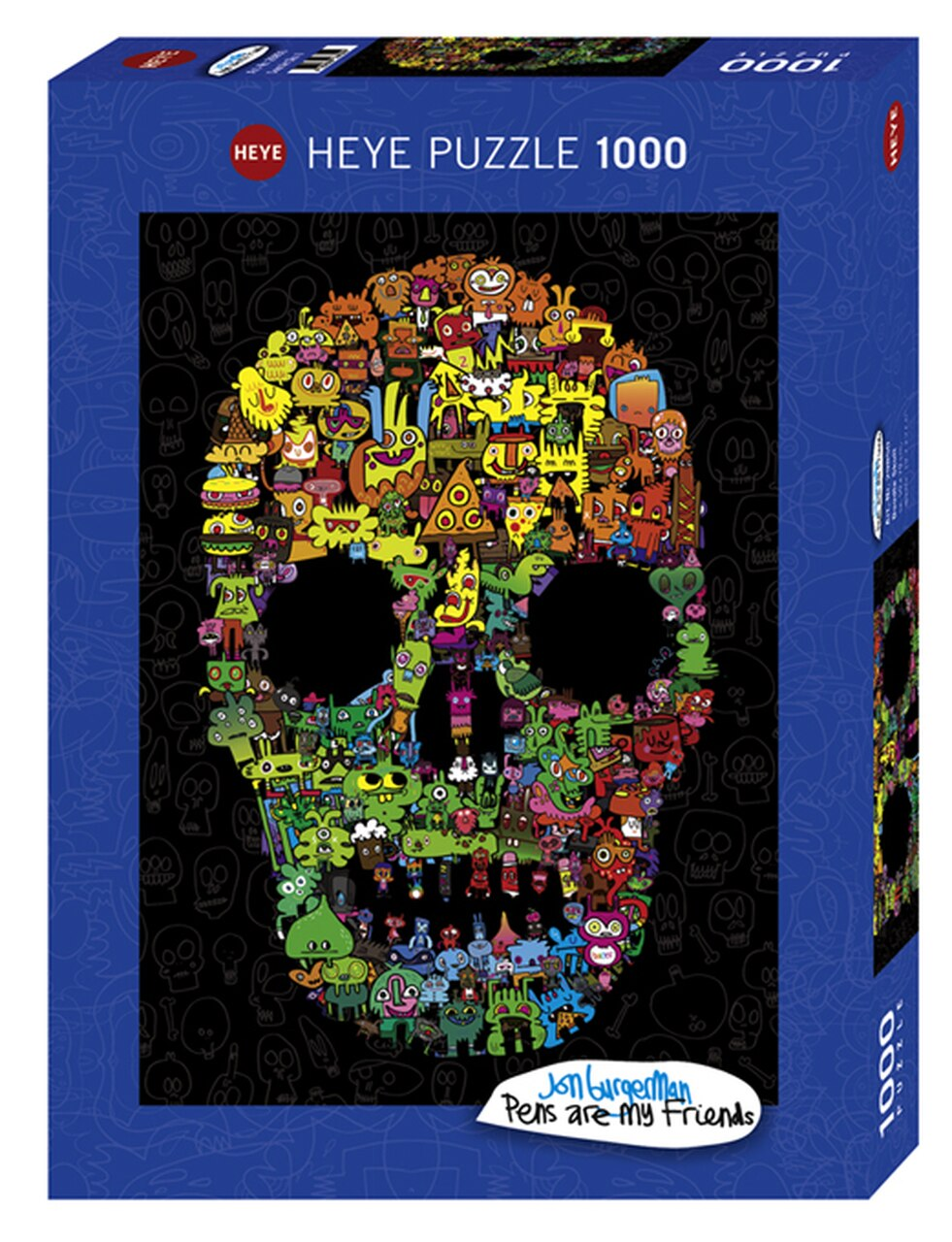 Doodle Skull 1000pc Puzzle