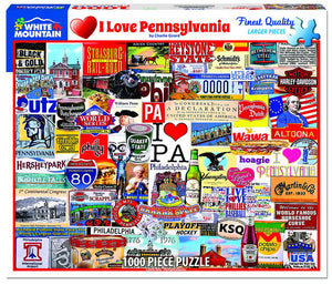I Love Pennsylvania 1000pc Puzzle