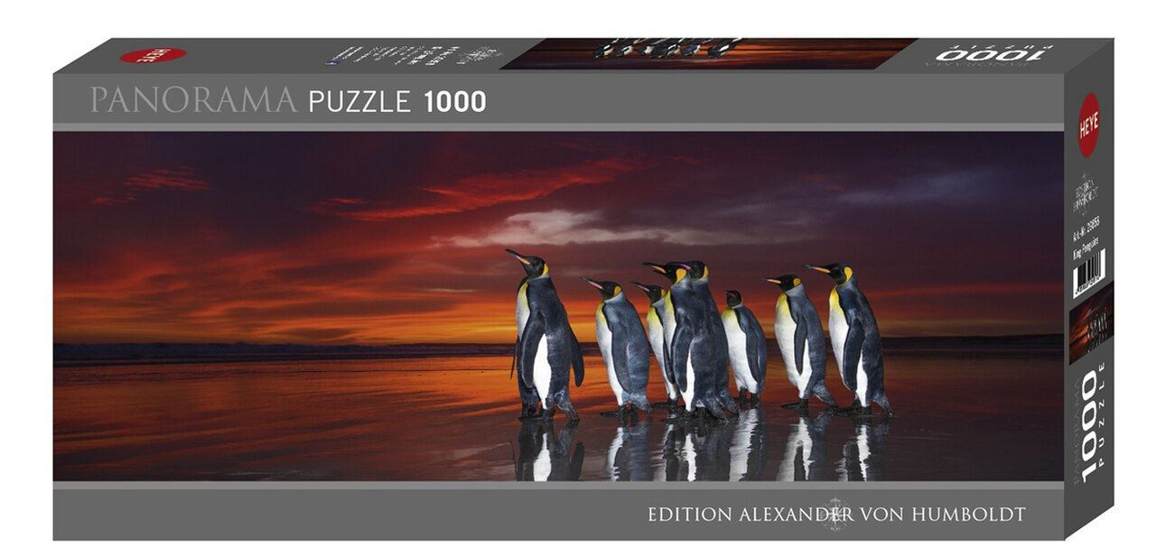 King Penguins 1000pc Panoramic Puzzle