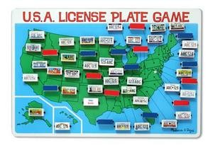 Flip-To-Wib U.S.A. License Plate Game