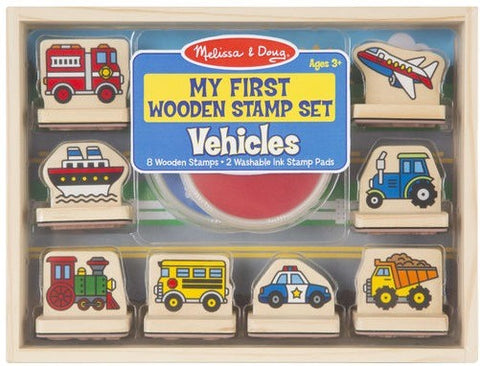 Vehicles-My First Wooden Stamp Set