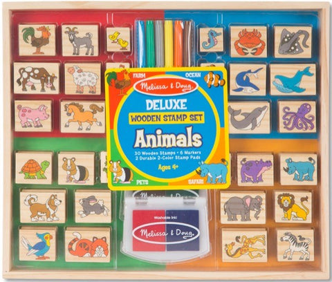 Animals-Deluxe Wooden Stamp Set