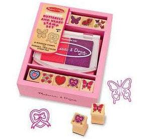 Butterflies & Hearts Wooden Stamp Set