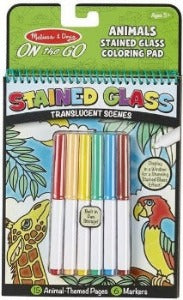 Animals-Stained Glass On-The-Go! Coloring Pad #30300