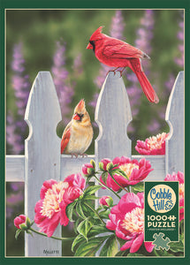 Cardinals and Peonies 1000pc Puzzle