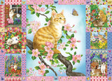 Blossoms and Kittens Quilt 1000pc Puzzle