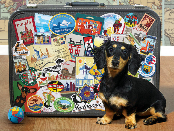 Dachshund 'Round the World 500pc Puzzle