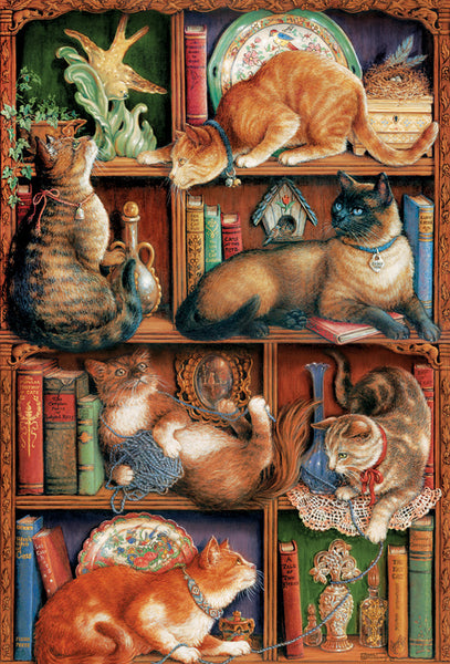 Feline Bookcase 2000pc Puzzle