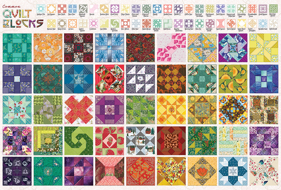 Quilt Blocks 2000pc Puzzle