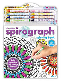 Spirograph Coloring Book and Crayons