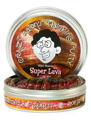 "2"" Super Lava Crazy Aaron's Thinking Putty"