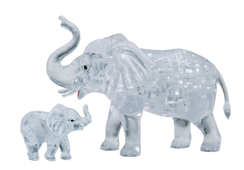 Elephant with Baby 3D Crystal Puzzle