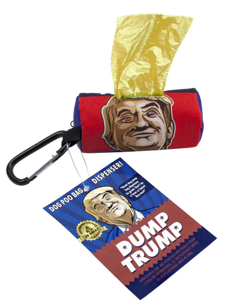 Dump Trump Dog Poo Bags & Dispenser - BUY ONE GET ONE FREE!