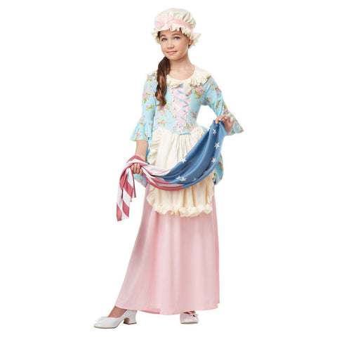 Betsy Ross Colonial Lady costume in a child size by California Costumes #00431
