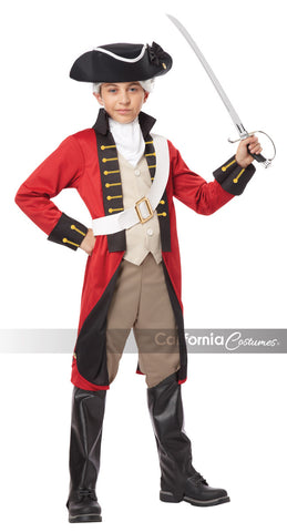 British Redcoat costume in a child size