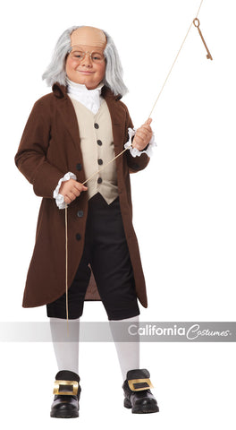 Benjamin Franklin costume in a child size