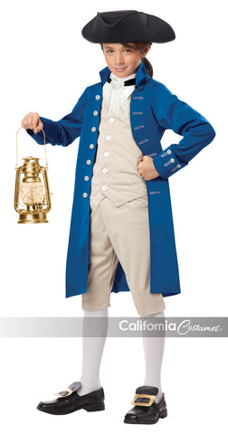 Paul Revere colonial costume for a boy