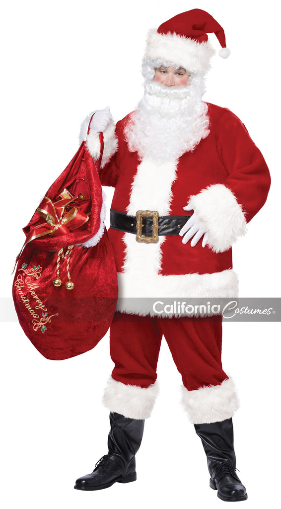 Deluxe Santa Claus costume by California Costumes #01274 at Buffalo Breath Costumes