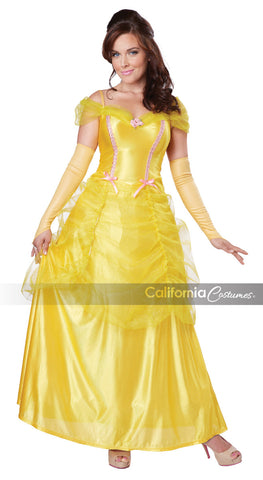 Classic Beauty and the Beast Belle yellow dress costume