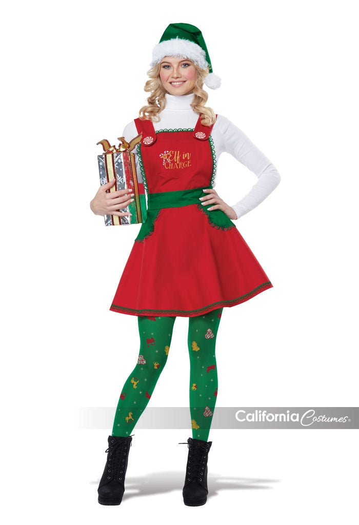 elf in charge womens christmas costume by california costumes 01491