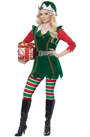 Festive Elf christmas costume by California Costumes #01493