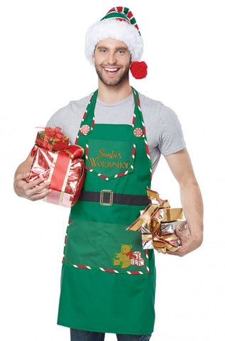 Santa's Workshop Apron by California Costumes #01495