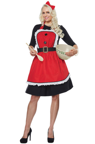 Mrs. Claus Apron by California Costumes #01498
