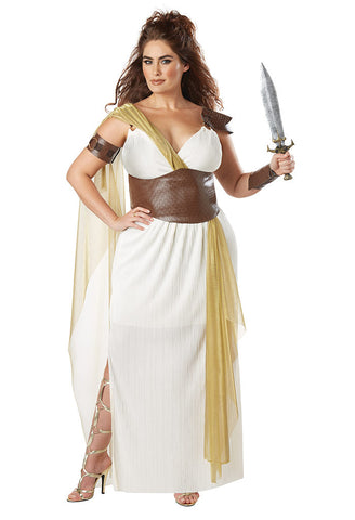 Spartan Warrior Queen plus size costume at Buffalo Breath Costumes