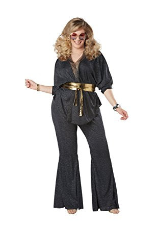 Disco Dazzler womens plus size 1970s costume by California Costumes #01777 at Buffalo Breath Costumes