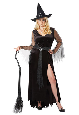 Rich Witch plus size costume at Buffalo Breath Costumes