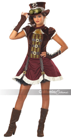 Steampunk Girl tween size costume by California Costumes #04068