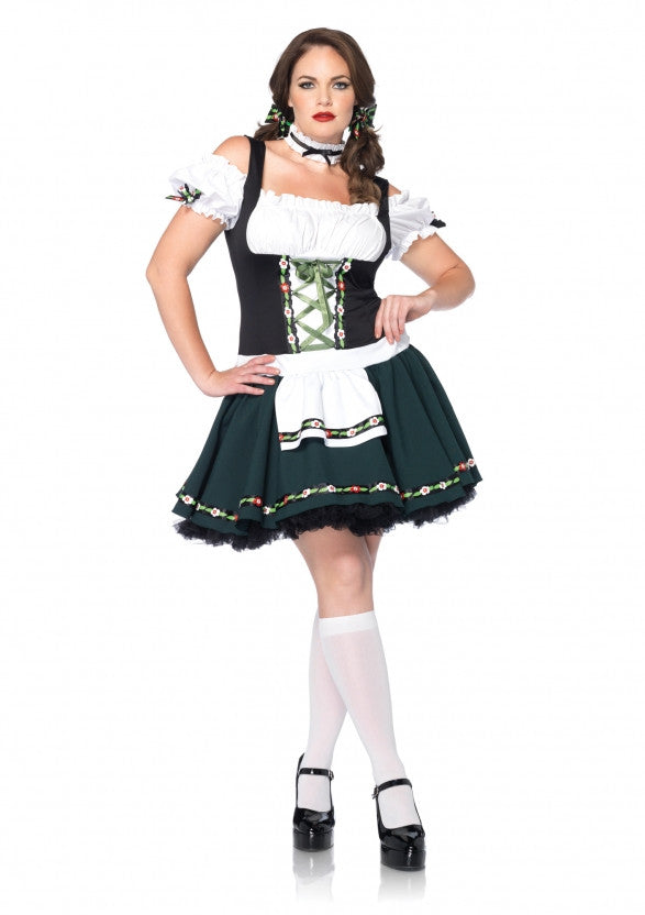 Bavarian Beauty Oktoberfest costume in a plus size