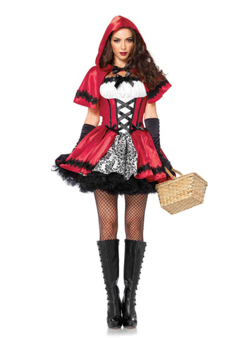 Gothic Red Riding Hood in Packaged Costumes from LEGAVENUE at Buffalo Breath Costumes - 1