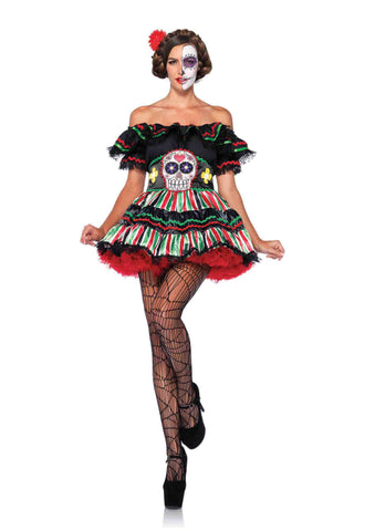 Day of the Dead Doll in Packaged Costumes from LEGAVENUE at Buffalo Breath Costumes - 1