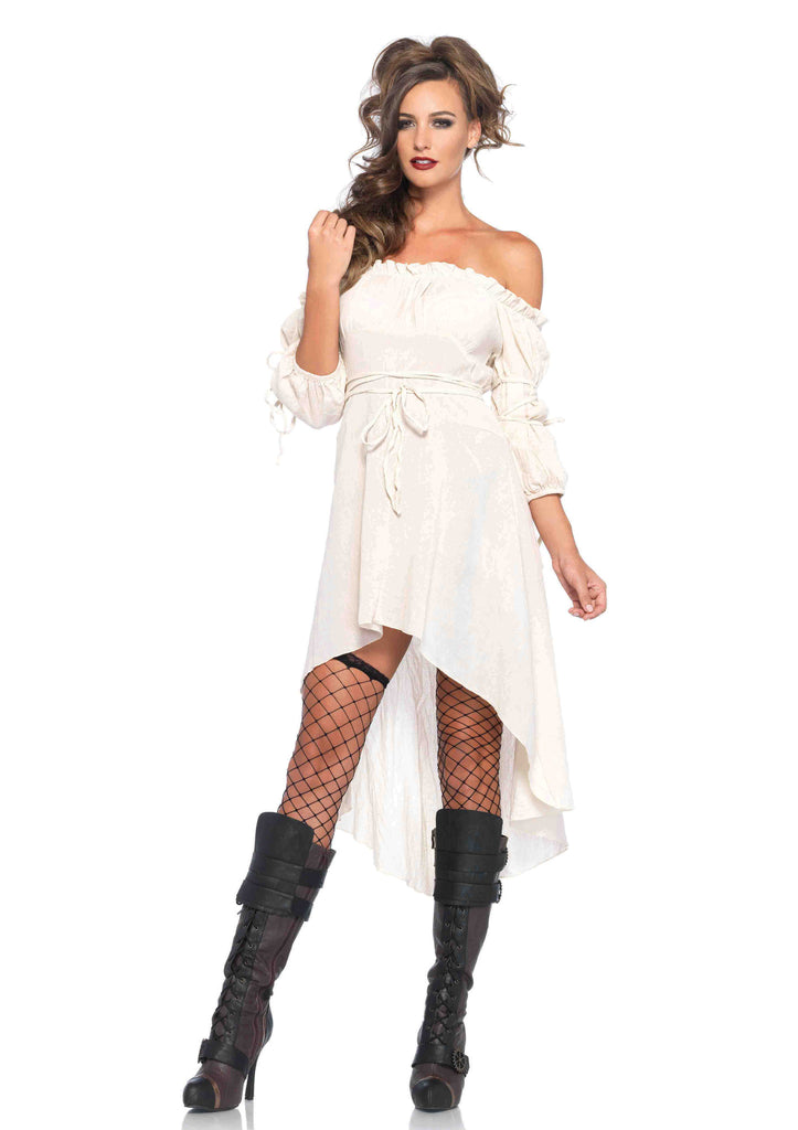 Gauze Peasant Dress-Ivory in Packaged Costumes from LEGAVENUE at Buffalo Breath Costumes