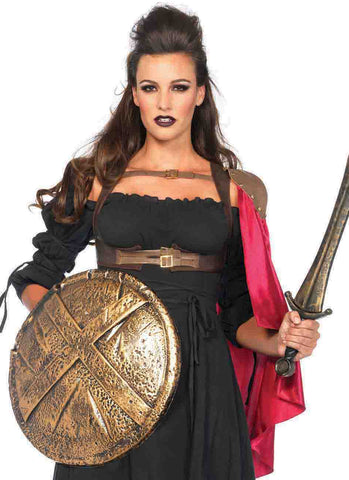 Warrior Harness with Cape in Accessories from LEGAVENUE at Buffalo Breath Costumes