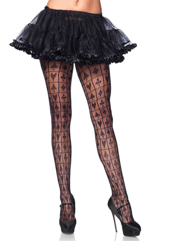 Card Shark checkerboard pantyhose in Accessories from LEGAVENUE at Buffalo Breath Costumes