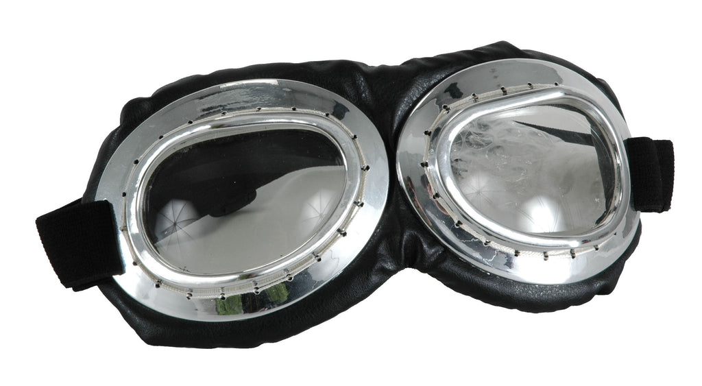 Aviator Goggles Black/Silver in Accessories from ELOPE at Buffalo Breath Costumes