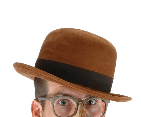 Bowler Brown Hat from ELOPE at Buffalo Breath Costumes