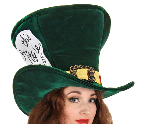 The Mad Hatter Green in Accessories from ELOPE at Buffalo Breath Costumes