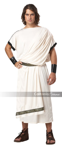 Men's Deluxe Classic Toga in Packaged Costumes from CALIFORNIA at Buffalo Breath Costumes